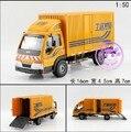 Caliente venta 1 unid 1:50 16 cm delicada motor portador ingeniería amarilla furgones modelo de simulación de aleación de coche decoración regalo del juguete