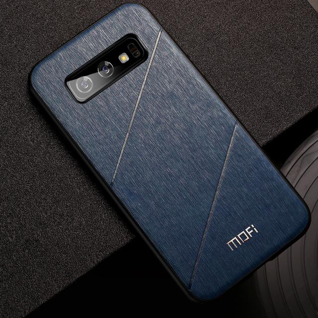 MOFi Samsung Galaxy S10 S10e S10 Plus Hard PU Leather Shockproof Back Case Cover
