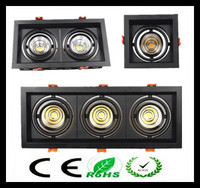 1pcs Black White Super Bright Recessed Square LED Dimmable Downlight COB 10w 20W 30w LED Spot