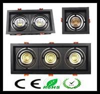1pcs Black White Super Bright Recessed Square LED Dimmable Downlight COB 10w 20W 30w LED Spot