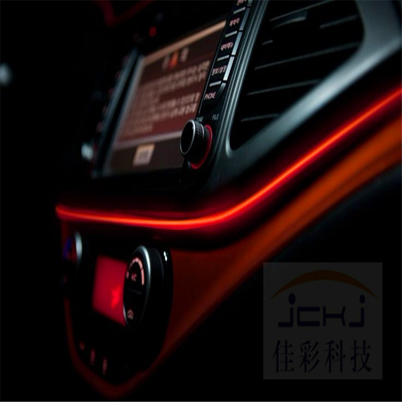 Us 4 24 15 Off Jingxiangfeng 1 Meter Car Decorative Lights Driving At Night Ambient Light El Cold Line Diy Console Door 12v In