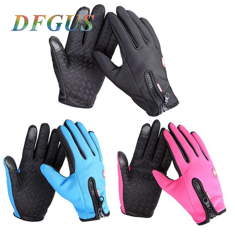 Mens Classic Black Winter Leather Gloves Outdoor Sport Driving Touch Screen Gloves Women Male Military tactical winter gloves