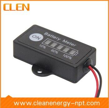 Free Shipping 10pcs/lot 12V Lead-Acid Battery Fuel Gauge DC Battery Tester Meter Battery Electronic Multimeter