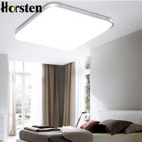 Horsten 24 W Gümüş/Altın Çerçeve Süper İnce Akrilik LED Tavan Işık Kapalı Aydınlatma Lambaları Fabrika Toptan Yatak Odası Tavan lamba