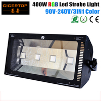 TIPTOP TP S400RG 4X100W RGB Stage Led Strobe Light 400W 100V 220V DJ KTV Xmas Party Strobe Light Flash Lighting Club Party Disco