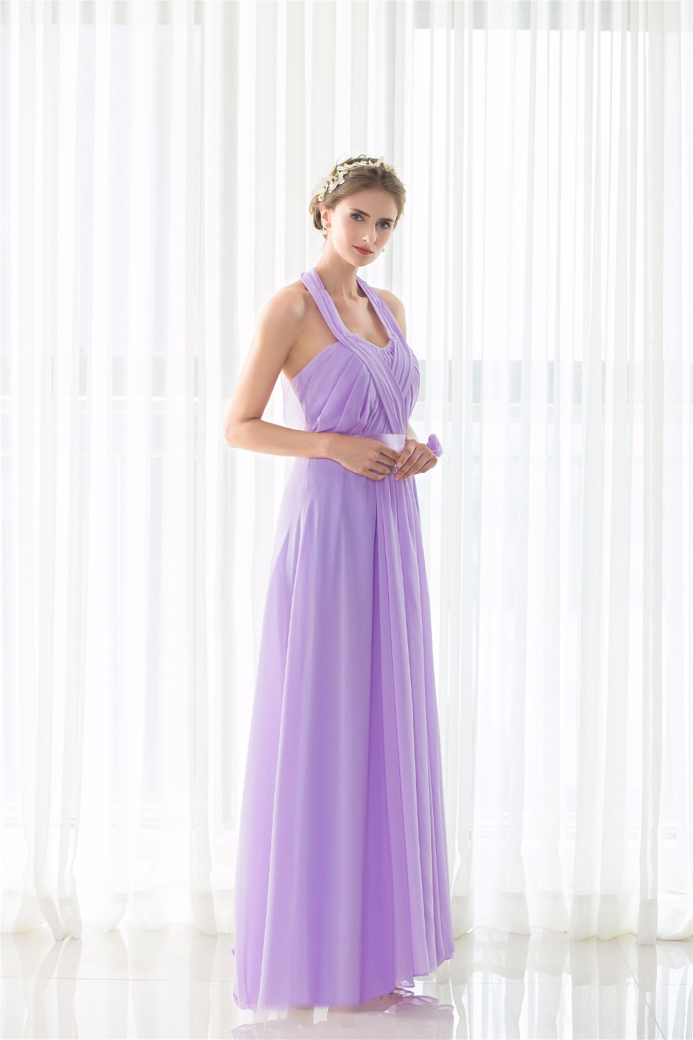2017 modest lavender bridesmaid dress floor length halter open 2017 modest lavender bridesmaid dress floor length halter open back robe demoiselle dhonneur formal wedding guest dresses in bridesmaid dresses from ombrellifo Image collections