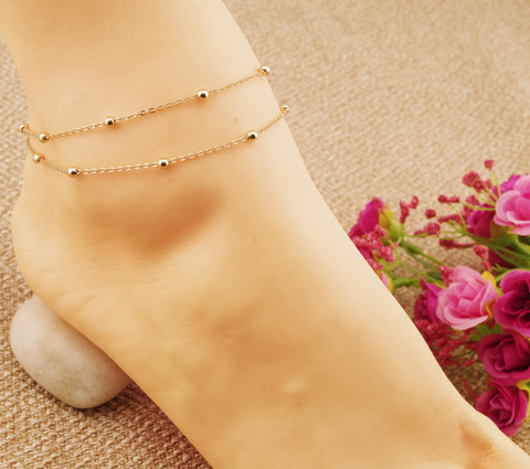 3e2929e0f5f New double sterling silver jewelry foot chain women Bracelet on the leg  Stylish heart charms anklet chain Jewelry GLFB005