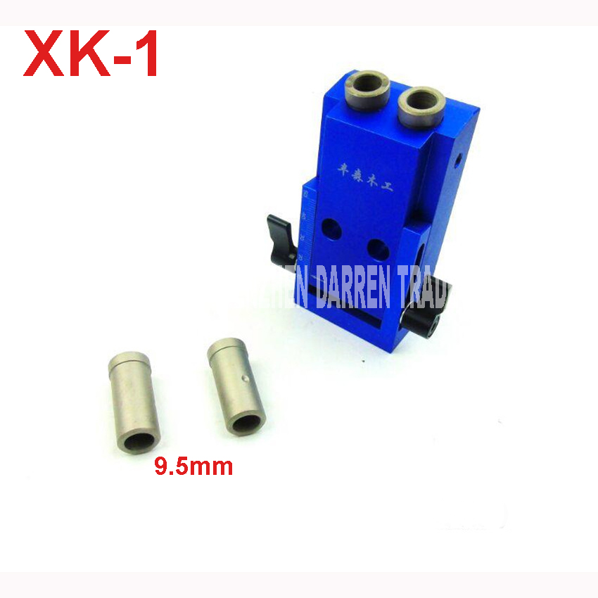 XK-1 Mini Hole Jig Kit System For Wood Working & Joinery With Step Drilling Bit & Accessories aluminum alloy inner hole 9.5MM woodworking tool pocket hole jig woodwork guide repair carpenter kit system with toggle clamp and step drilling bit k527