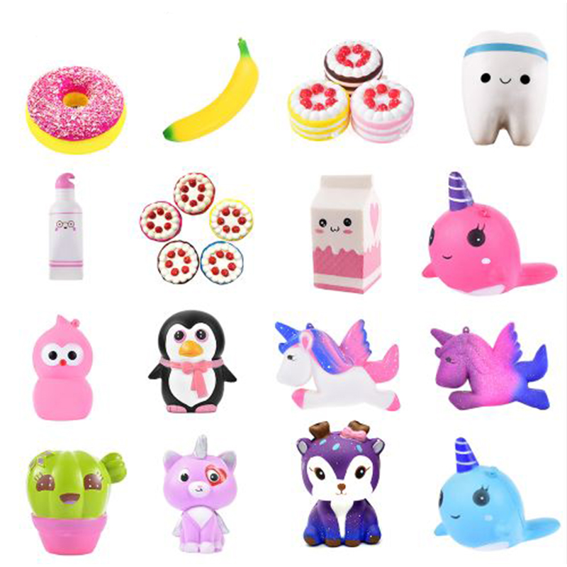 Jumbo Kawaii Squishy Slow Rising Unicorn Donut Soft Colorful. Squishy Animal Big Squishy Squeeze Fun Antistress Toy For Children