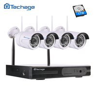 Techage 4CH 1080P Wireless NVR CCTV System P2P 4pcs WIFI IP Camera Outdoor 2 0MP Home