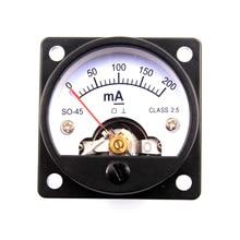 2 uds. 45mm DC200mA amperímetro redondo del Panel de la bobina móvil para el Vintage 2A3 300B 6550 211 KT88 845 tubo amplificador DIY