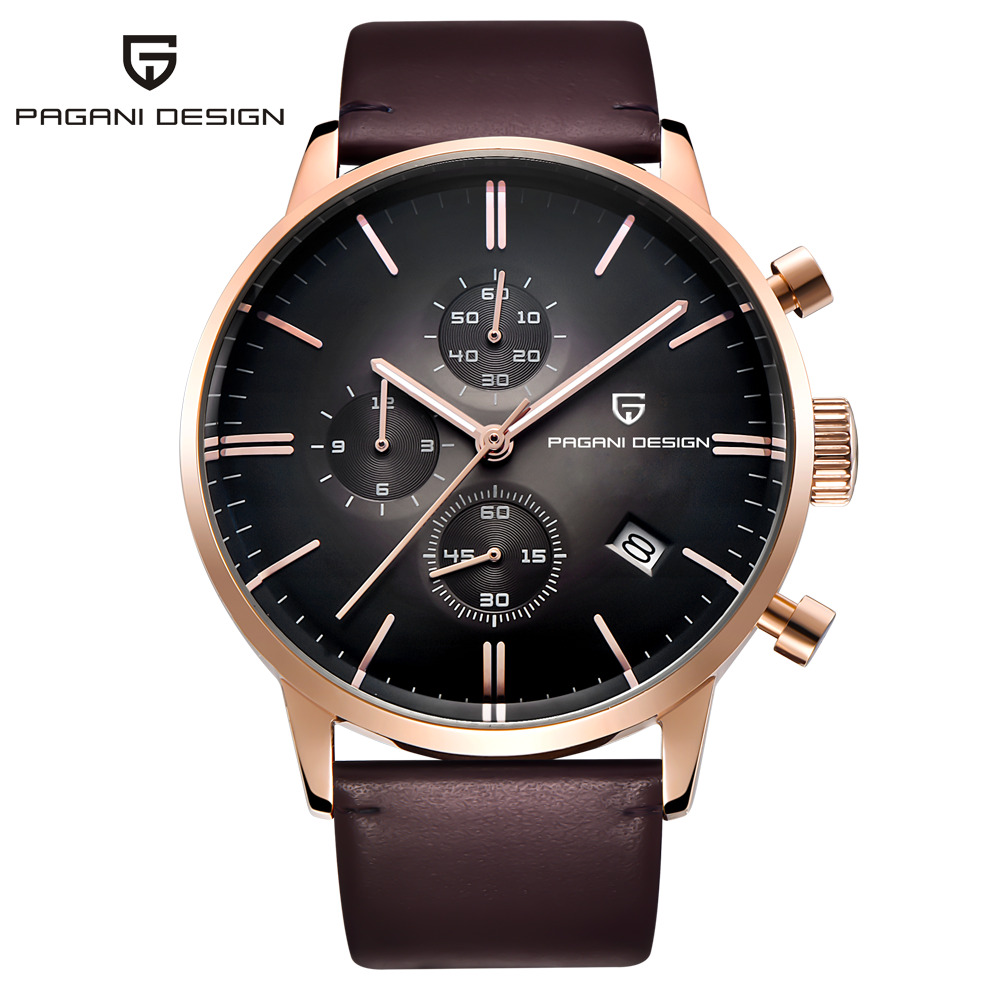 PAGANI DESIGN Original Brand Men Sports Military Quartz Watch Fashion Business Chronograph Leather Wristwatch Relogio Masculino new winter thicker plus kids suits blazers for baby boy plaid blazer snowsuit children party suit costume garcon warm outfits