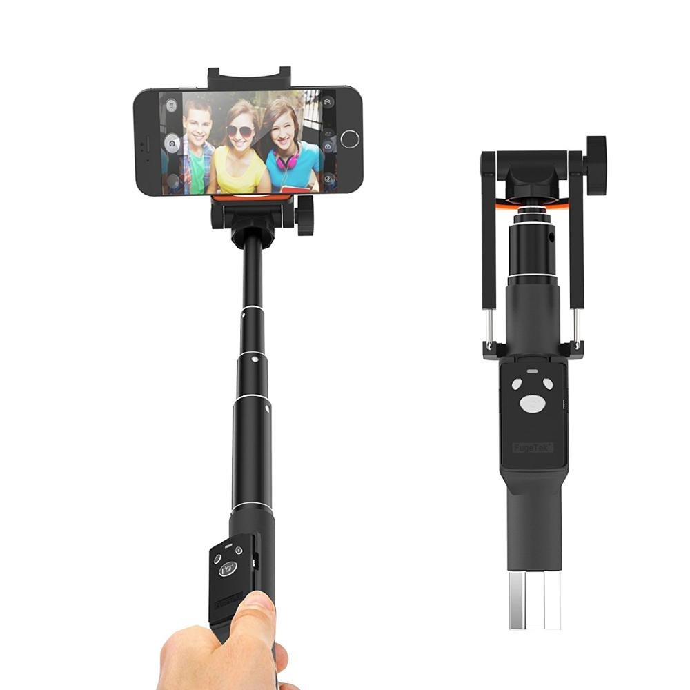 Lightweight Locking Black Aluminum 32 Professional Pocket Size Removable Bluetooth Remote Selfie Stick For iPhone Android