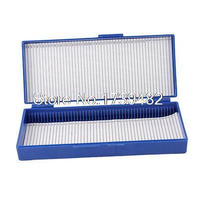 Royal Blue Plastic Rectangle Shape 50-Place Microslide Slide Microscope Box royal view place 3 паттайя