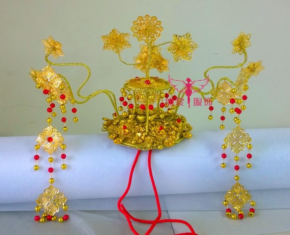 Tv Play Lady of the Dynasty императрица Ян Юань такой же дизайн волос диадемы головной убор ручной работы для свадебная прическа невесты аксессуар - 6
