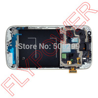 For Samsung Galaxy S4 I9505 Lcd Screen With White Blue Touch Screen Digitizer Frame Assembly By