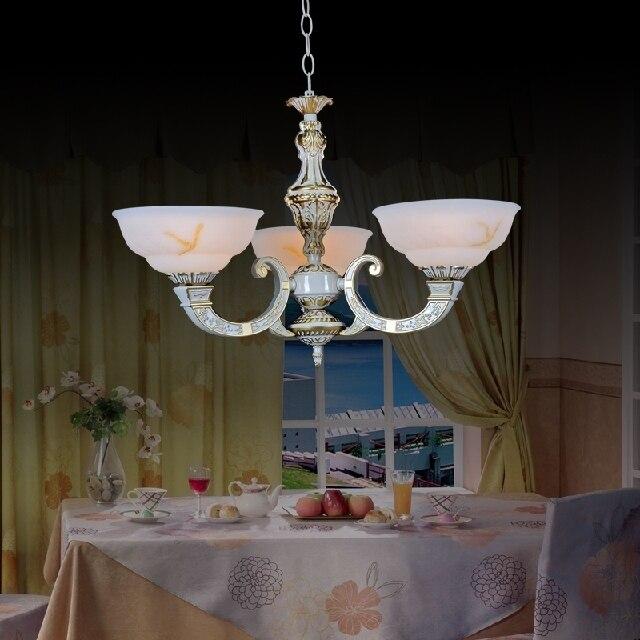 Несколько люстра деревенский кованого железа сплав двойного всасывания висит люстра гостиная спальня лампа restaura zx85