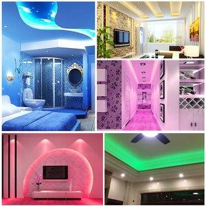 Image 4 - 110V LED Strip SMD5050 60led/m Color Changing Remote Control Type RGB Neon Light Belt AC110V Lighting Line Home Decor Waterproof