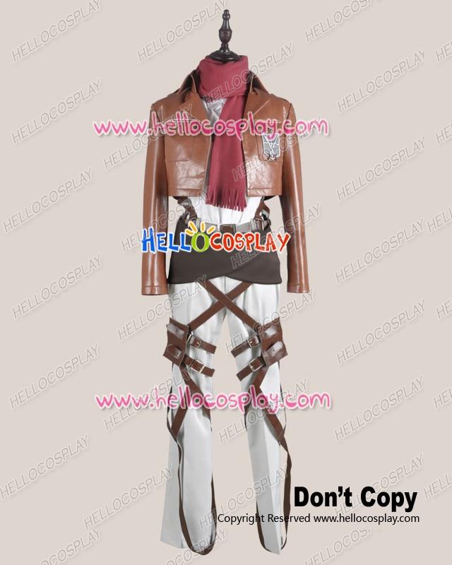 Attack On Titan Shingeki No Kyojin Cosplay Ackerman Legion Costume Leather Ver H008