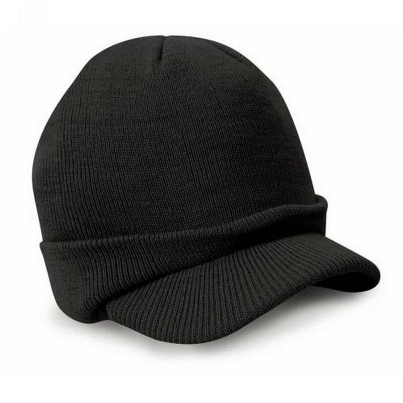 Gaya busana Tentara Topi Laki-laki Topi Musim Dingin Dengan Visor - Aksesori pakaian - Foto 4