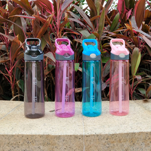 Water Cup Plastic High capacity With Straw Adult sports Student Female maleCreativePortable Handy bottle