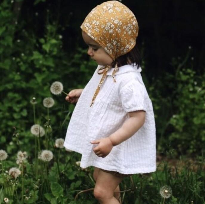 Kids Clothing Babies Ruffles Linen T-shirts Kids Girls Fashion Jumper tops Baby Girl Clothes 2018 Baby Summer Clothes