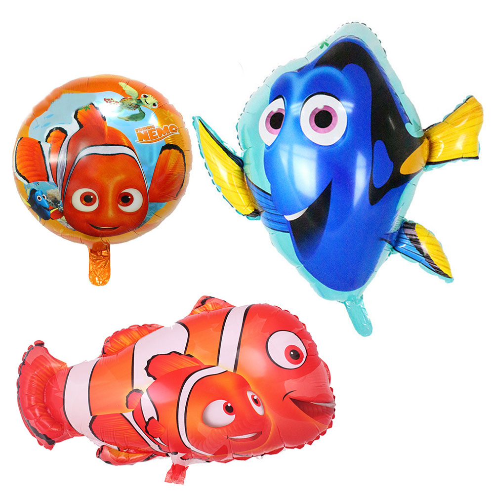 3pcs/lot Nemo Dolly Fish Foil Balloons Children Classic Toys Inflatable Helium