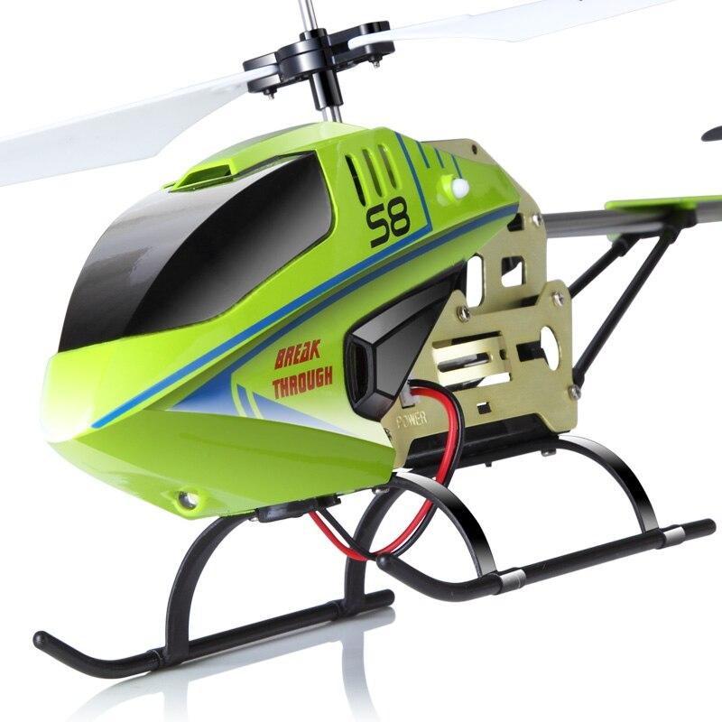 Mini Syma S8 Original avec coque en alliage gyroscope 2.4G 3CH RC hélicoptère clignotant télécommande LED jouet drone rc
