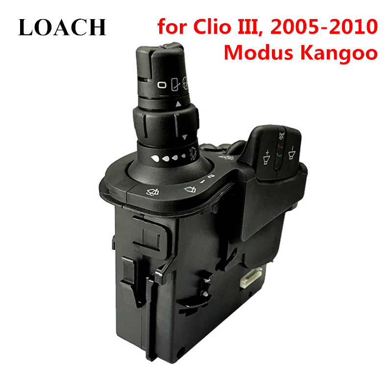 Radio Wipers Blade Steering Column Combination Switch for Renault Clio III 3 Grand Kangoo Modus Stalk Indicator Buttons Control Radio Wipers Blade Steering Column Combination Switch for Renault Clio III 3 Grand Kangoo Modus Stalk Indicator Buttons Control