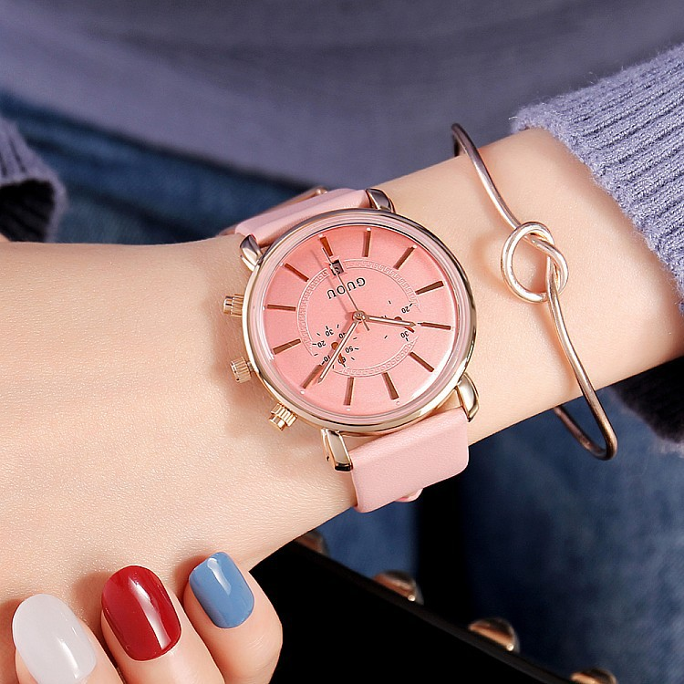 New Luxury Leather Strap Crystal Watch Women Fashion Rose Gold Quartz Watches Retro 2018 Top Brand Female Waterproof Clocks nuckily ns357 men s quick dry outdoor cycling short pants black m