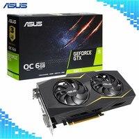 Asus GTX1660TI O6G GAMING игры Графика карты 1500 1830 MHz 6G 192Bit 12000 МГц GDDR5 GeForce GTX 1660 Ti игровой видеокарты
