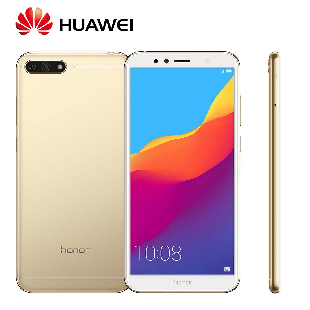 Globale Rom Huawei Honor 7A Android 8.0 13MP + 8MP Camera 3000 mah Viso ID Supporto OTA aggiornamento Snapdragon430 Mobile telefono