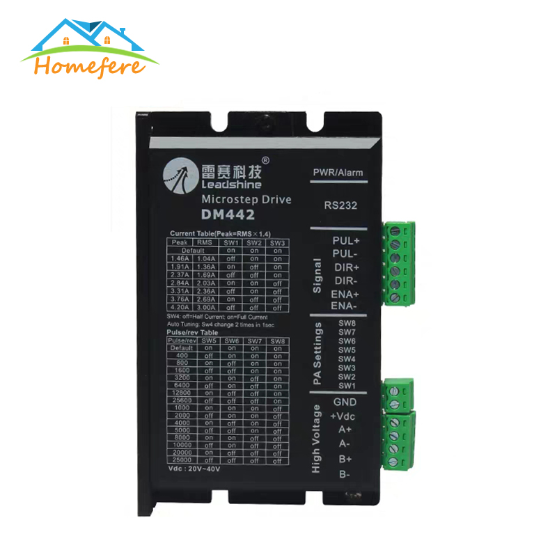 Stepper Motor Driver <font><b>DM442</b></font> 542 556 DMA860H Nema14 16 17 23 34 42 0.5-8.3AA DC9-50V Stepping Motor for CNC Engraving Machine image