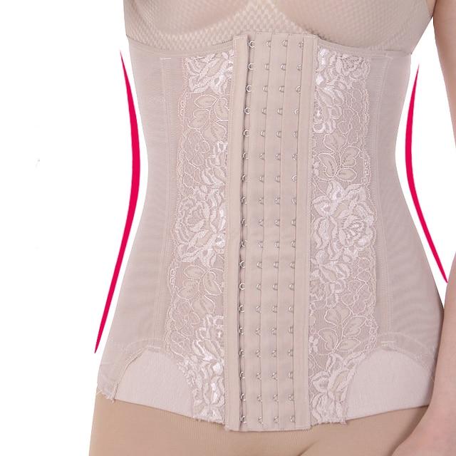 Waist Cincher 4 lines Hooks Girdle Corsets Bustiers Firm Plus Body shaper Slimming Belt waist trainer corset S-XXL