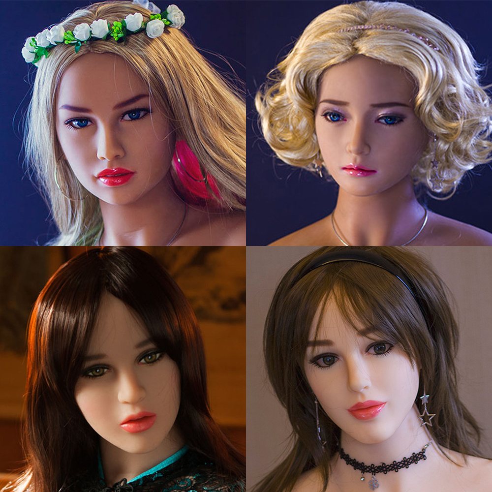 Hanidoll 140~170cm Height Sex Dolls Head for dolls Real silicone With Oral sex For Men sex dolt heads M16 screw real doll