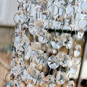 Прозрачные стеклянные бусины 30 м, занавеска, свадебное украшение, товары для гостиной, перегородки, домашние украшения