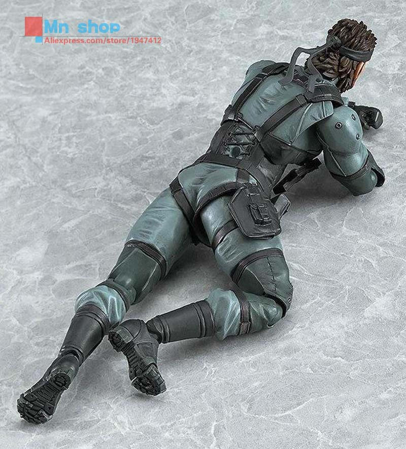METAL GEAR SOLID 2: SONS OF LIBERTY Figma 243 Snake PVC Action Figure Collectible Model Toy 16cm P45 metal gear solid action figure sons of liberty figma 298 soldier pvc toy 16cm anime games figures snake collectible model doll