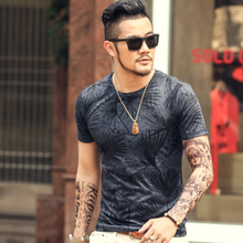 New men summer vintage short sleeve o-neck printed floral t-shirt men brand cotton t-shirts men fashion 2018 tops Men's Clothing
