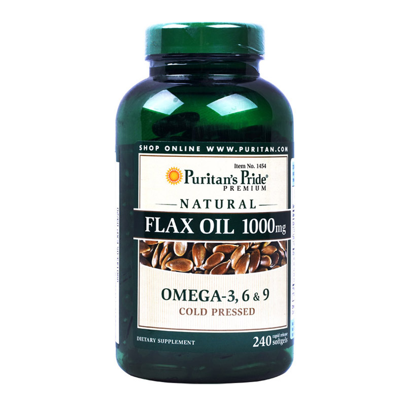 Free Shipping Flax Oil 1000 mg Omega 3 6 9 cold pressed 240 pcs