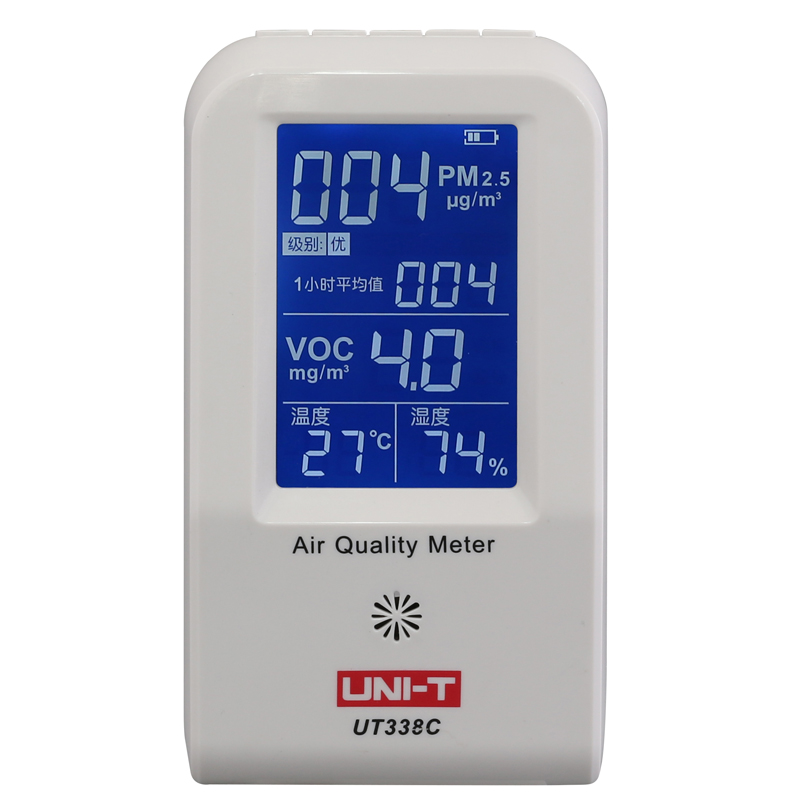UNI-T UT338C air quality meter PM2.5 air quality detector Humidity temperature monitor with backlight rx lcd5802 all in one 7 inch white edition 40ch diversity 5 8ghz fpv wireless diversity monitor with built in battery and osd