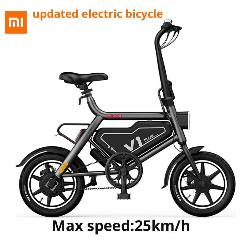 [Duty Free] Original Xiaomi HIMO V1 Além Disso Portátil Dobrável Ciclomotor Bicicleta Elétrica 250 W 60 km Ciclomotor Elétrico quilometragem 100 kg capacidade