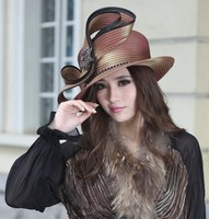 French Style Women Derby Church Wedding Beach Cocktail Evening Hats Dress Wide Brim Vintage Cap Berets Fedora New Winter Warm