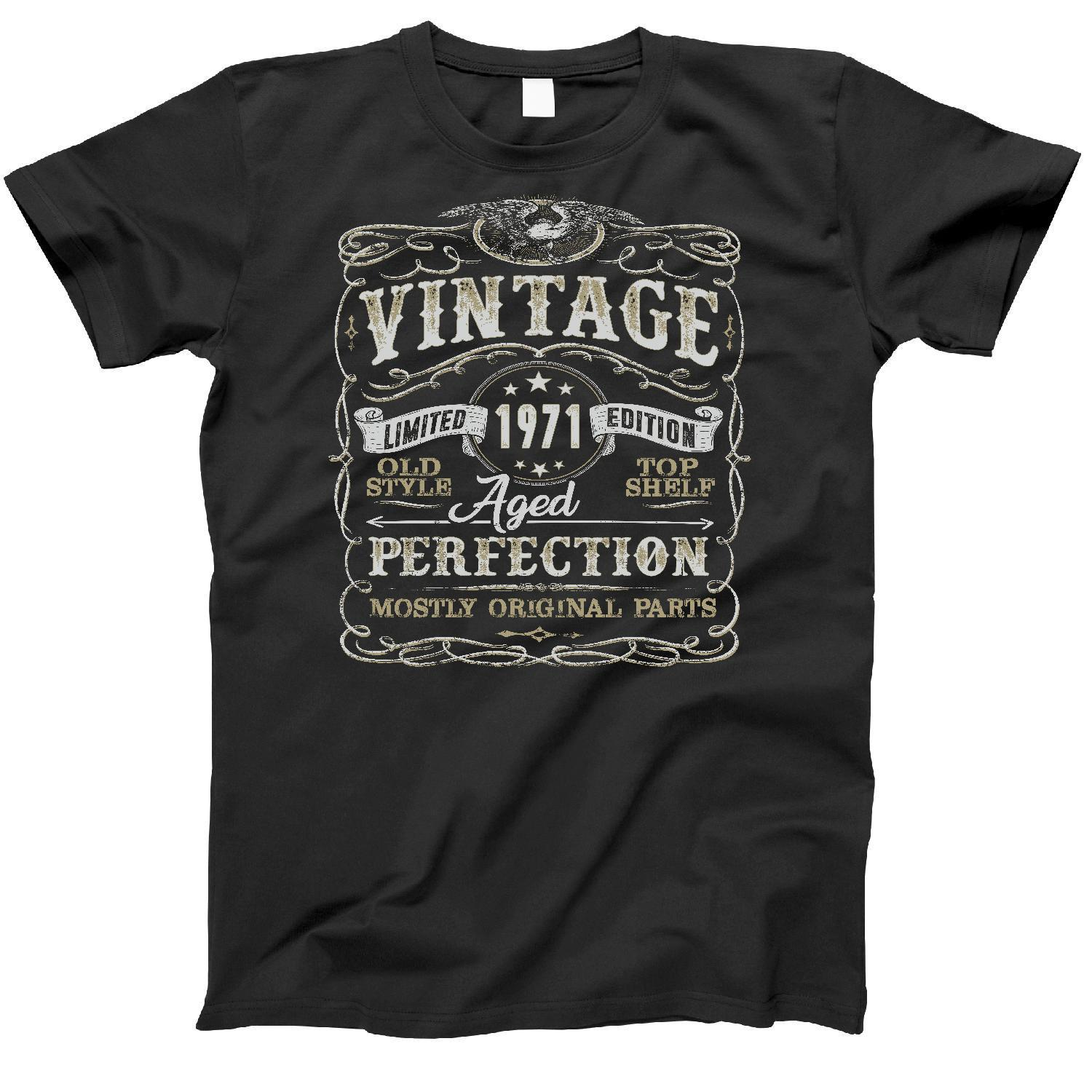 2019 Fashion Summer Hot sale 47th Birthday Gift Shirt | <font><b>Vintage</b></font> <font><b>1971</b></font> | Funny | 47 Years Old | Born in <font><b>1971</b></font> | Tee shirt image