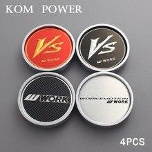 KOM 4pcs 50.5/45mm clip wheel center cap universal no logo silver & black blank carbon grain caps on wheels work rims