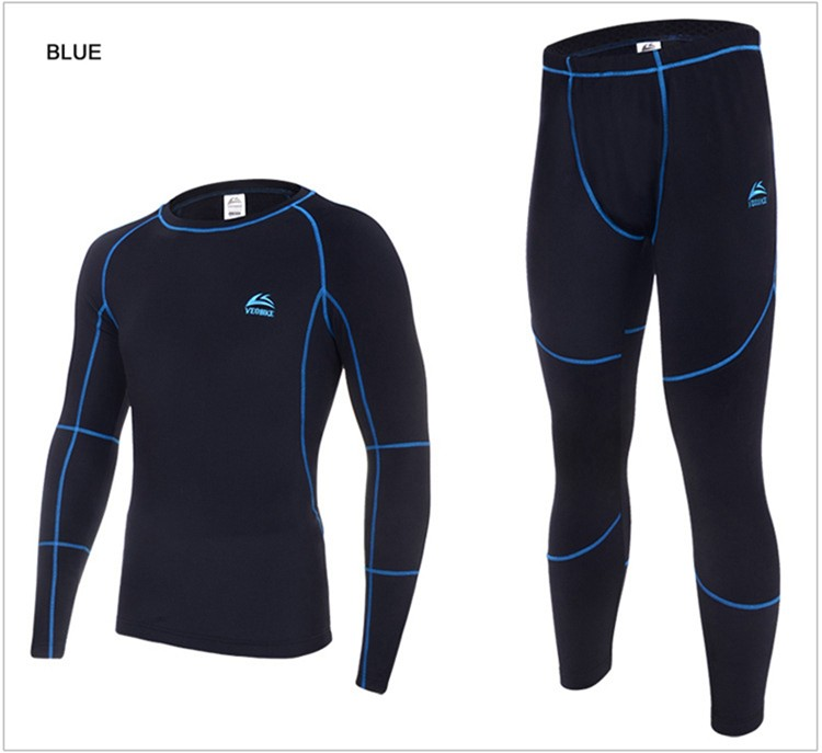 2019 Men's Winter Thermal Underwear Sets Compression Fleece Sweat Quick Drying Thermo Underwear Men Clothing Free Shipping