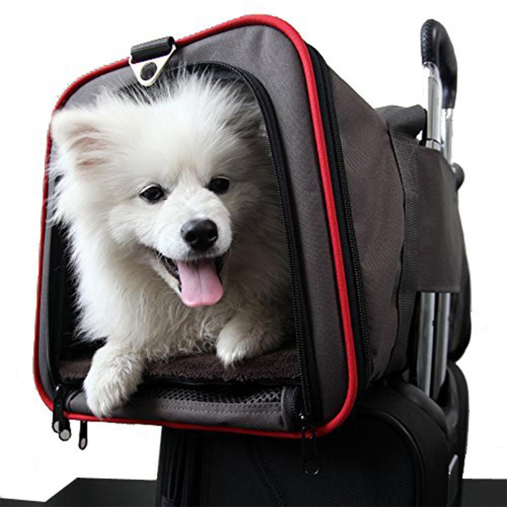 Adeeing 2-side extensible Pet Carrier respirant sac à main transporteur confortable sacs de voyage pour chat chien chiot
