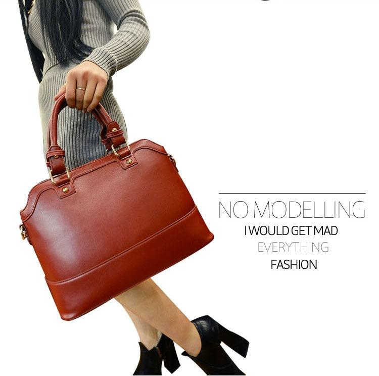 ФОТО 2016 New Arrival Winter Lady Handbag Boston Fashionable Women Shoulder Messenger multi-use Handbags Bags factory outlets