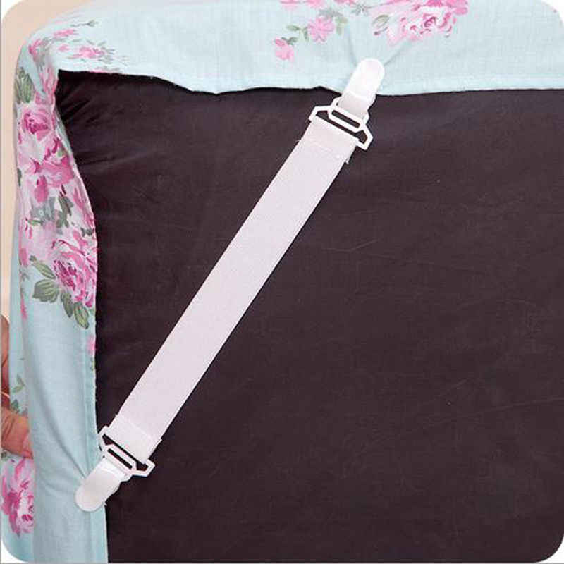 4 Pcs/Set  Bed Sheet Mattress Cover Blankets Grippers Clip Holder Fasteners Elastic Exquisite