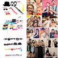New funny toys photo Booth Props Party Moustache Lips On A Stick Photobooth Lips toys 31Pcs/Lot