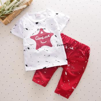 Newborn Summer baby boys clothes set New Star Shirts Shorts Cotton for Kids 1